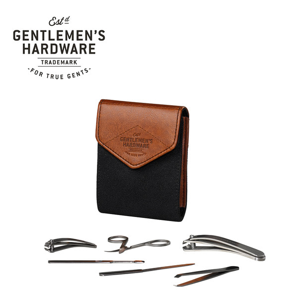 [GENTLEMEN'S HARDWARE] CHARCOAL CANVAS NAIL SET